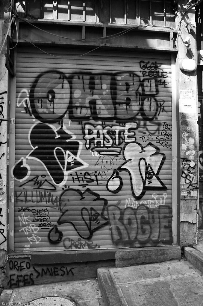 Streetart in Gassen um den Galata Turm